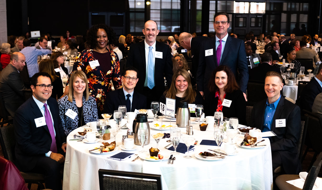 Bremer staff at PPL's Fundraising Breakfast